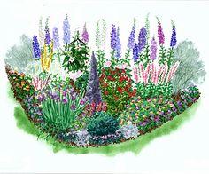 long blooming garden plans...