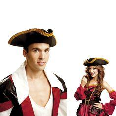 Sombrero de Pirata Deluxe #sombrerosdisfraz #accesoriosdisfraz #accesoriosphotocall