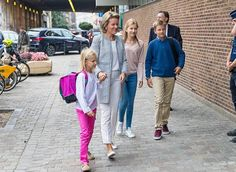 Queen Mathilde Takes Kids To First School Day