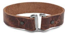 I designed this E-Hook Leather Bracelet at Lima Beads.