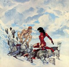 Frank Miller (Elektra Lives Again) Comic Book Artists, Comic Books Art, Comic Art, Archie Comics, Marvel Comics, Anton, Frank Miller Art, Daredevil Elektra, Marvel Kids