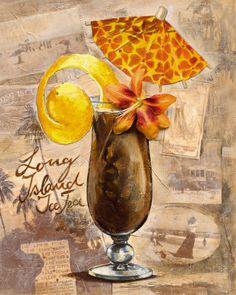 Té helado Long Island Lámina Iced Tea Vodka, Long Island, Bar Kunst, Retro, Cafe Art, Graphic Projects, Poster Prints, Art Prints, Vintage Pins