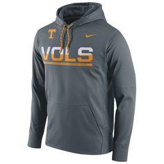 Nike Tennessee Volunteers Gray Circuit Pullover Performance Hoodie #vols #volunteers #tennessee