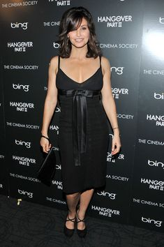 Gina Gershon Little Black Dress - A satin bow sweetened up Gina Gershon's sultry LBD at the screening of 'The Hangover Part II.'
