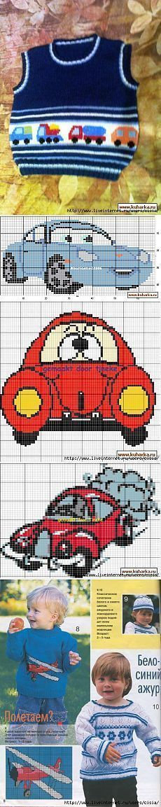 """Baby Knitting Patterns combine jóvenes amantes TRANSPORTE [ """"Find and save knitting and crochet schemas, sim. Baby Knitting Patterns, Baby Boy Knitting, Knitting Charts, Knitting For Kids, Baby Patterns, Free Knitting, Crochet Patterns, Diy Crafts Knitting, Knitting Projects"""