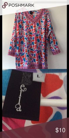 Colorful top Thin colorful top. Great for spring and summer ella Tops Blouses