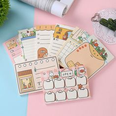 School Stationery, Kawaii Stationery, Student Diary, School Supply Labels, Kawaii Store, Snail Mail Pen Pals, Korea, Bullet Journal Aesthetic, Office And School Supplies