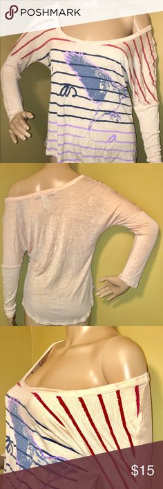 American Rag Cie 1984 women's top size small This cute and flirty top is perfect for a summer night under the stars. It's soft and light. The colors add the fun. Pre owned but good condition. Amerian Rag Tops