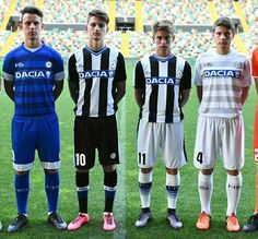Udinese Home, Away and Third Kits 2016-17