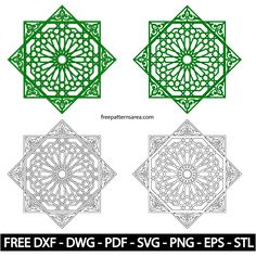 Geometric Islamic Ornament Art Vector Patterns