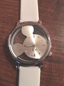 New Silver White Transparent Mickey Mouse Watch | eBay