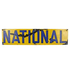 Aged Porcelain National Sign  sc 1 st  Pinterest : national sign and lighting - azcodes.com