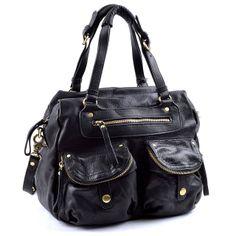 Authentic Overstock Designer Handbags - Sabina New York Convertible Pocket  Satchel in Genuine Top Grain Leather. d77fa784ede79