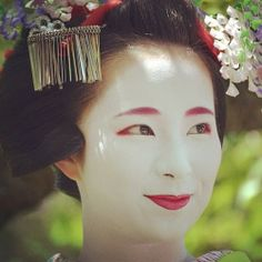 Maiko Fukunae in May 2014 by @kuumill on Instagram  This month the theme of kanzashi is a wisteria!