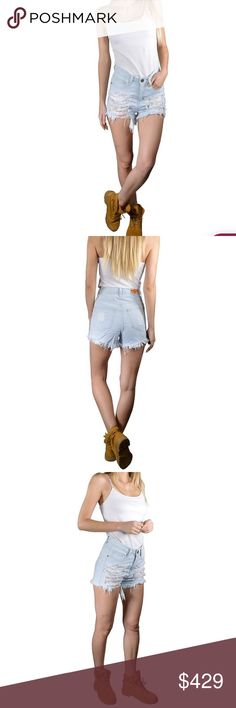🎉COMING SOON🎉 Sky Blue Shorts Flaunt your love for the ribbed design trend wearing the Women Ribbed Denim Shorts with Ripped Tassel Hems for a casual outing with friends or family. Designed to make a distinctive fashion statement, these shorts extensively exhibit ribbed detailing on the pockets and the front panels. They are designed with a traditional five-pocket design comprising two back pockets, two side pockets and a key pocket. The hems look stunning with ripped tassels hanging…
