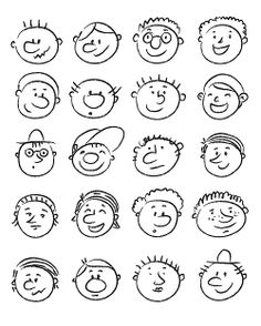 Doodle faces https://www.behance.net/gallery/4096463/Characters