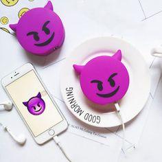 Cute Emoji  8800mAh External Battery Cartoon Portable Phone Charger Power Bank E