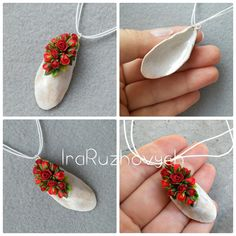 Necklace made with real shell from the sea. The flowers is made from polymer clay, all flowers I make myself.. The item will ship by Registered Air Mail Service from Ukraine. It takes about 1-2,5 weeks. This is a MADE-TO-ORDER item. Please allow 1 - 3 days for production time.