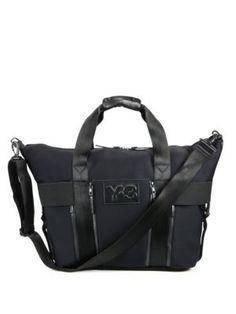 Y-3 Qasa Gym Bag. #y-3 #bags #shoulder bags #hand bags #polyester #leather #