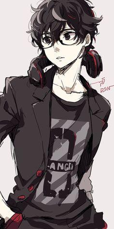 Persona 5 Alternative world Hot Anime Boy, Cute Anime Guys, Anime Boys, Chica Anime Manga, Manga Boy, Anime Nerd, Anime Cosplay, Kawaii Anime, Couple Fotos