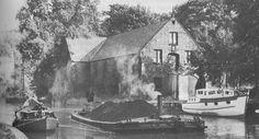 A short boat with coal at Worsley, Bridgewater Canal 1965 Bridgewater Canal, Canal Boat, British, Painting, Painting Art, Paint, Draw, British People, Paintings