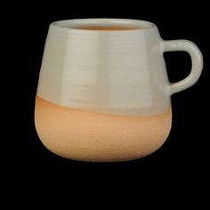 UNIONMADE - Wheel Ceramic Company - Half Glazed Ceramic Mug in Blue Slate