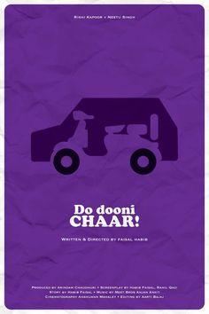 Do Dooni Chaar (2010) ~ Minimal Movie Poster by Ojasvi Mohanty #amusementphile