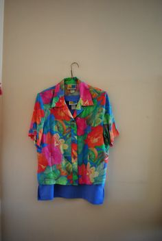 Summer fashion vintage 80s tropical color rayon blend by VezaVe