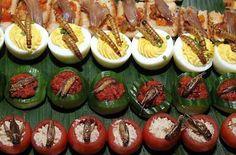 Insectos preparados en platos muy bien elaborados.-