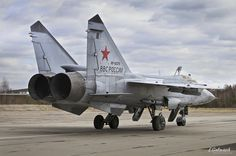 Landing and takeoff of Mig - 31 Russia