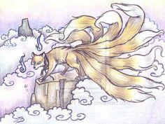 Kitsune by who-stole-MY-name.deviantart.com on @deviantART