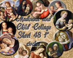 Madonna Mary and Child Digital Collage Sheet  by MFDigiLand, £1.67