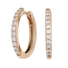 Dreambase Damen-Ohrschmuck Creole 22 Diamant-Brillanten 14 Karat (585) Rotgold 0.33 ct. Dreambase http://www.amazon.de/dp/B00N5C5BGI/?m=A37R2BYHN7XPNV