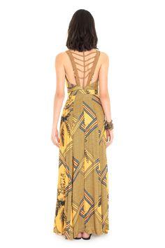 Vestido longo estampado arizona   Dress to