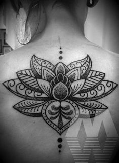 Ornate lotus by Manuel Winkler #InkedMagazine #Lotus #tattoo #tattoos #InkedMag #inked #ink #flower #floral