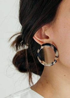 etsy machete blonde tortoise hoop circle earrings