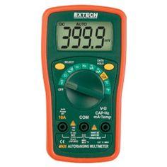 http://termometer.dk/multimeter-r13262/generalle-multimetre-r13315/multimeter-automatisk-omradevalg-53-MN36-r13325  Multimeter, automatisk områdevalg  Stort letlæseligt digitalt display  AC / DC spænding, DC strøm, modstand, kapacitans, frekvens, type K Temperatur, Continuity / Diode  Praktisk mini størrelse med beskyttende gummihylster og vippefod  dataholdefunktion låse læsning i displayet  Inkluderer beskyttende gummihylster, 2x AAA batterier , Type K perle wire temperatur. sonde...