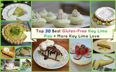 Pretend You're in Key West Enjoying Key Lime Pie! Over 30 Gluten-Free Key Lime Pie Dessert Recipes! via @shirleygfe
