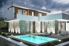 Se venden villas para estrenar con 3 dormitorios y vistas al Montgo en Denia. precio desde 350 000 euros