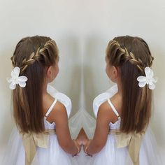 yiota_artofhair # YiotaArtOfHair … - All For Hairstyles Kids Hairstyles For Wedding, Flower Girl Hairstyles, Little Girl Hairstyles, Loose Hairstyles, Children Hairstyles, Braid Hairstyles, Communion Hairstyles, Flower Girl Gown, Flower Girls