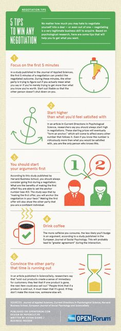 5 Tips to Win Any Negotiation - Infographic