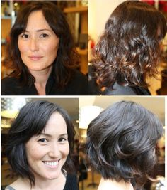 haircut before and after, hair makeover, wavy bob, hair by Anh Co Tran