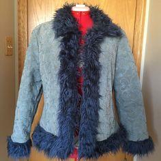 Vintage Boho Style Wilsons Leather Maxima Jacket Faux Fur Floral Coat Womens XXL #WilsonsLeather #Bohemian #BohoStyle #Ebay