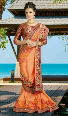 Online shopping for latest collection of designer sarees. Shop this art silk embroidered, patch border and zari work designer traditional saree for festival, party and wedding. Silk Sarees Online Shopping, Party Wear Sarees Online, Sarees Online India, Sari, Lehenga Choli, Anarkali, Indian Party Wear, Indian Wear, Mirror Work Saree