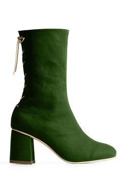 f4f6de8580 Convertible Midi Boot – Chlor · Shoes Heels WedgesWedge HeelsBungee ...