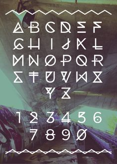 Marina Typeface by Angelica Baini, via Behance