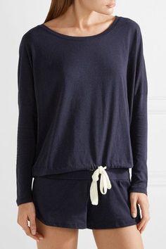 Eberjey - Heather Jersey Pajama Top - Storm blue - medium