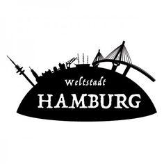 Hamburg ist die Freie und Hansestadt Deutschland. Sie ist, nach Berlin, die zweitgrößte Stadt. #Stadt #Hamburg #Skyline #Wadeco // http://www.wadeco.de/weltstadt-hamburg-skyline-wandtattoo.html