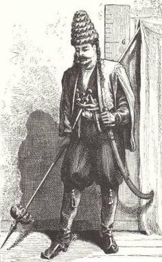 Kurdish warrior.  Armenia, ca. 1850.