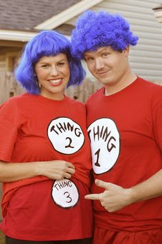 """Halloween Costume Pregnancy Announcement! """"Thing 3"""""""